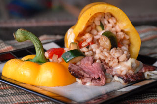 barley-steak-bell-peppers